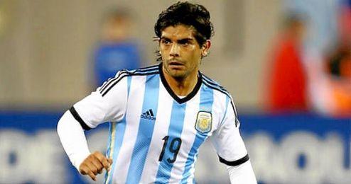 Éver Banega, con la selección argentina.