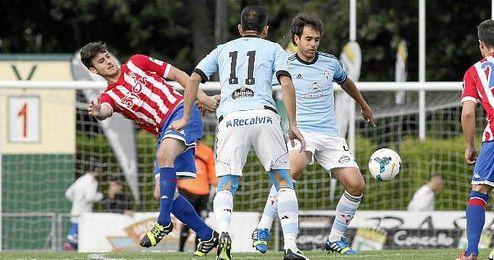 Imagen de un amistoso disputado entre el Celta de Vigo y el Sporting de Gijón.