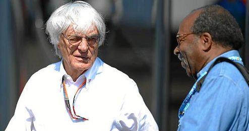 Bernie Ecclestone en el circuito de Spa.