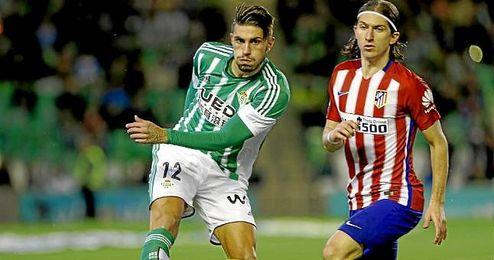 Cristiano Piccini superó ante el Atlético los minutos que jugó el curso anterior.