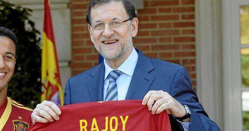 Rajoy se volvi� anoche comentarista deportivo.