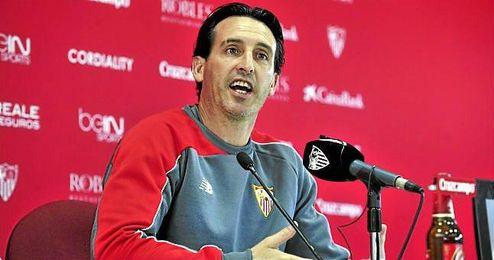 Emery, con ganas de que llegue la hora del partido.