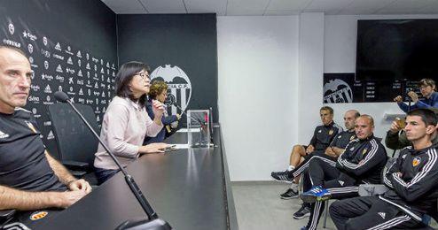 Voro en su presentación como nuevo técnico del Valencia.