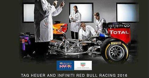 Imagen del Red Bull Racing-TAG Heuer RB12.