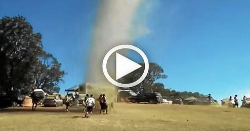 (VÍDEO) ¡Que no pare la fiesta! ni aunque llegue un tornado