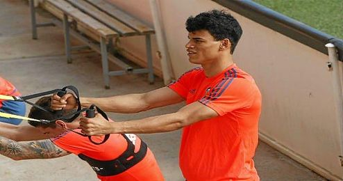 Danilo, en un entrenamiento.