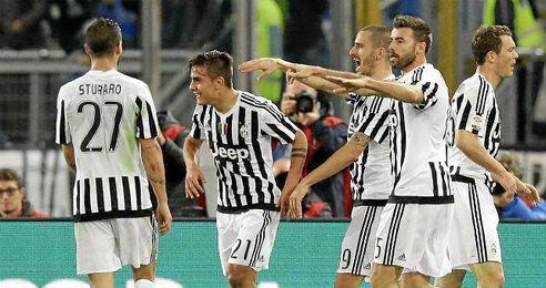 Dybala fue la estrella de la Juventus.