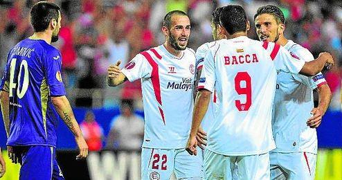 La �ltima visita de un cuadro italiano al S�nchez Pizju�n se produjo el curso pasado, cuando el Sevilla pas� por encima de la Fiorentina.