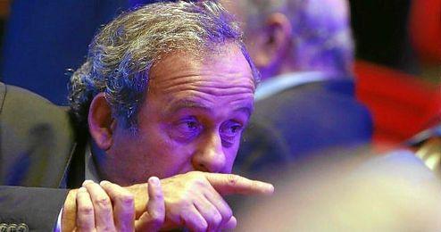 Michel Platini, en un acto de la UEFA.