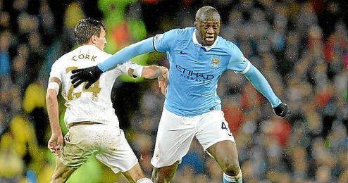 Yaya Touré, en un partido con el Manchester City.