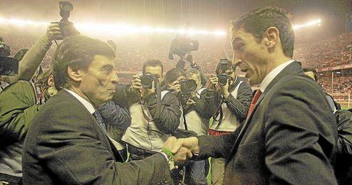 Manolo Jiménez y Paco Chaparro se enfrentaron en algún derbi.