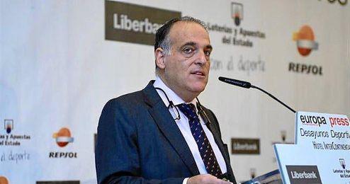 En la imagen, Javier Tebas, presidente de la LFP.