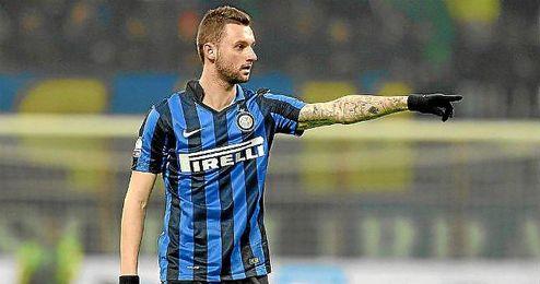 Brozovic, con la elástica del Inter de Milán.