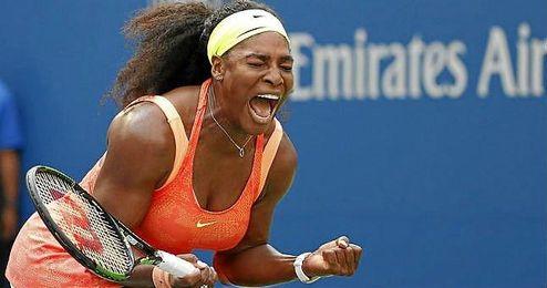 En la imagen, Serena Williams celebrando un punto.