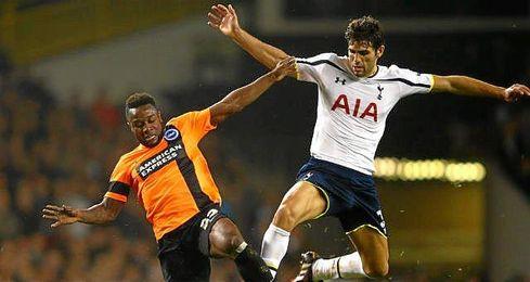 Fazio, en un partido con el Tottenham.