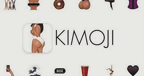 Imagen del aspecto de la aplicación Kimoji de Kim Kardashian.