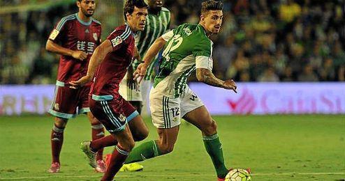 Imagen del encuentro entre la Real Sociedad y el Betis de la primera vuelta en el Villamarín.
