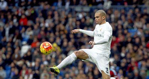 Pepe durante el partido.