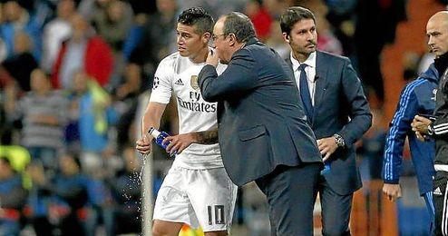 Rafa Benítez ha defendido a James tras su incidente con la policía.