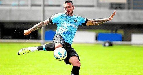Braian Rodríguez sólo ha anotado dos goles con el Gremio, siendo titular en once encuentros.