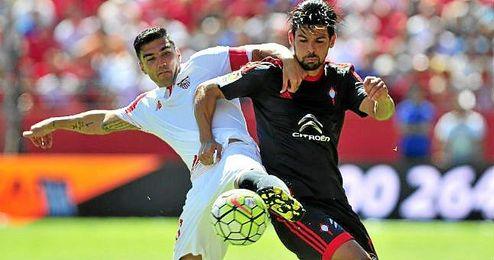 Imagen del partido de ida entre el Sevilla y el Celta.