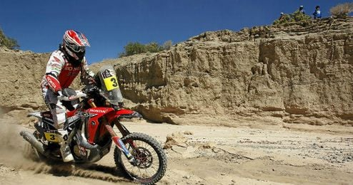 Joan Barreda, durante la tercera etapa en el Dakar.