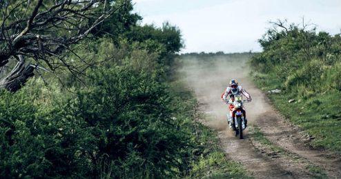 Barreda en una etapa del actual Dakar
