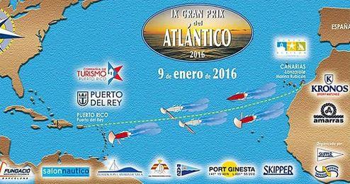 Imagen del cartel promocional de la regata del Atlántico.