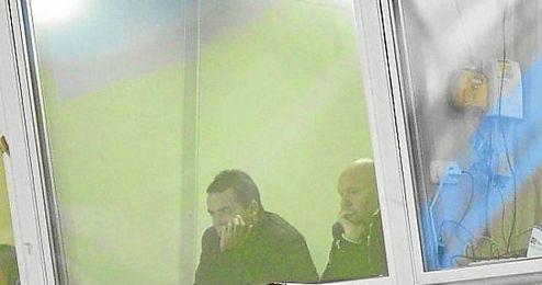 Mel vio el partido junto con Alexis Trujillo.