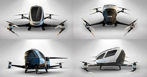 Dron tripulado de la compa��a china Ehang.