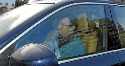 José Miguel López Catalán, a su llegada al Villamarín este domingo.