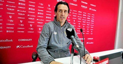 Emery, en sala de prensa.