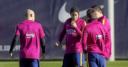 Imagen de un entrenamiento del Barcelona