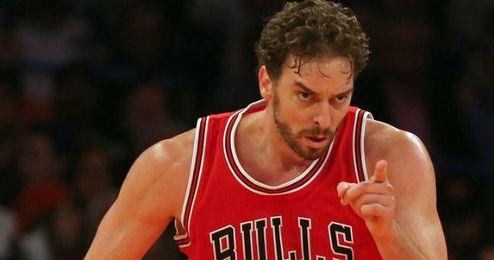 Pau Gasol en una imagen con los Bulls