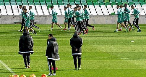 El Betis ya prepara el partido del próximo domingo ante el Real Madrid.