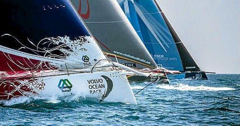 Imagen de una regata de una edición de la Volvo Ocean Race.