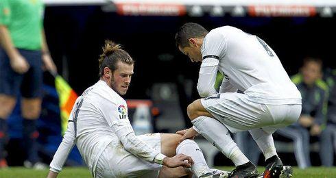 Gareth Bale se lesiona frente al Sporting.