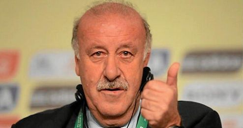 En la imagen, Vicente Del Bosque en una rueda de prensa.