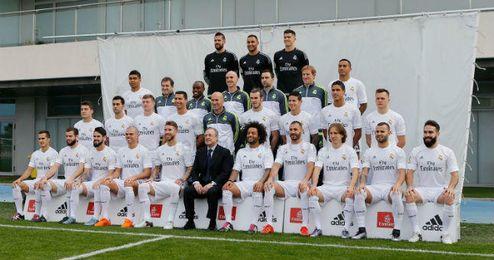 El conjunto blanco volvió a posar con el entrenador francés