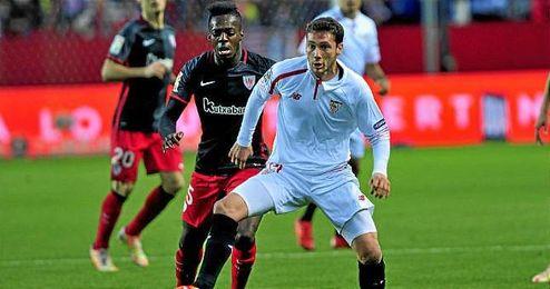 Cristóforo, en el partido de Liga ante el Athletic.