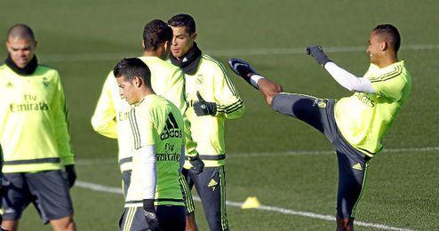 Imagen del Real Madrid entrenando en Valdebebas.