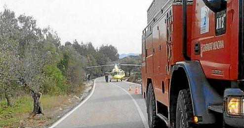 Imagen del lugar del accidente, kilómetro 35 de la CV-720.