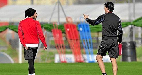 Diogo y Emery, en un entrenamiento.