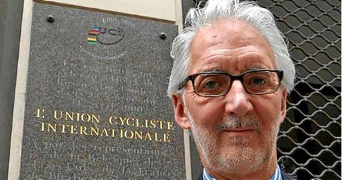 En la imagen, Brian Cookson, presidente de la Uni�n Ciclista Internacional.