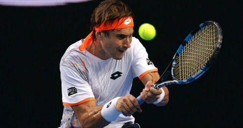 David Ferrer durante el �ltimo Open de Australia.