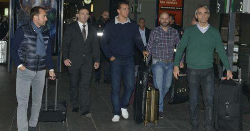 El delantero brasileño Damiao, a su llegada a Sevilla