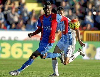 Lerma, en un partido con el Levante ante el Málaga.