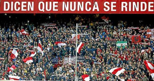 Imagen de la afición del Sevilla en el Sánchez Pizjuán.