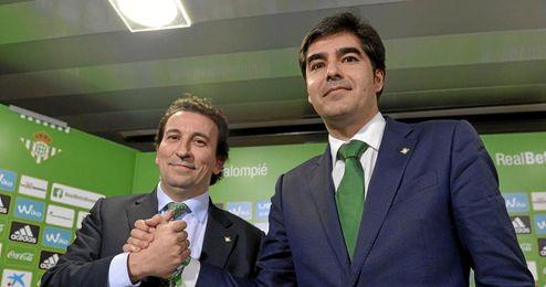 Haro y Catalán, tras la proclamación del primero como presidente.