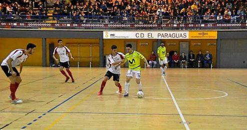 Partido contra el Movistar Inter el pasado martes en el trofeo Sercotel Solidario.